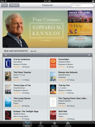iBooks an awesome free app to download and read books on your iPad