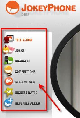 jokey phone menu