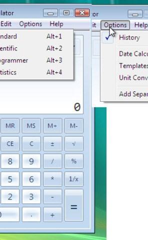 Windows 7 Advanced Calculator