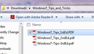 Windows 7 trips and tips
