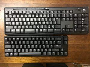キーボードのサイズ比較
