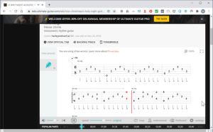 Ultimate-Guitar.com 楽曲再生中