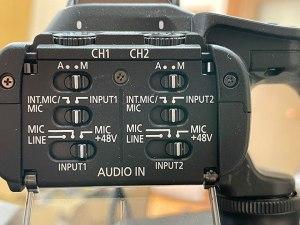 キヤノンXF400 オーディオ入力
