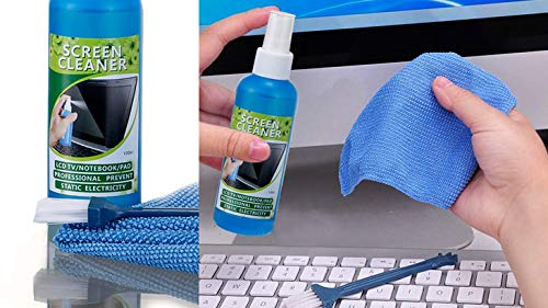 Technotech 3 in 1 Screen Cleaning Set for PC, Laptops, Monitors, Mobiles, LCD, LED, TV/Professional Quality/Prevents Static Electricity