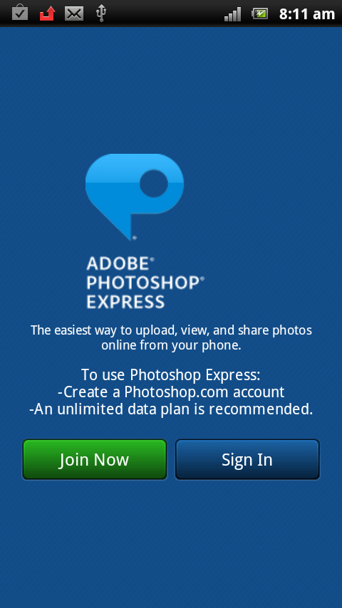 Join Adobe Photoshop Express