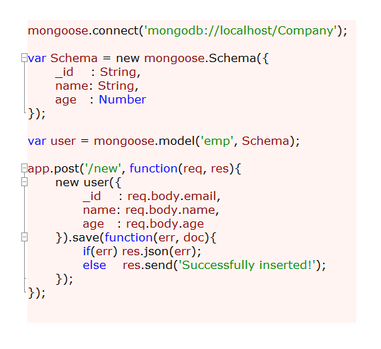 Save data To MongoDB: Node js