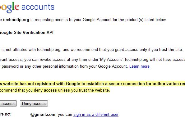 Google-site-verification-API