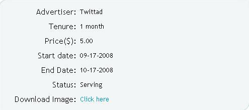 Twittad-advertisement-details