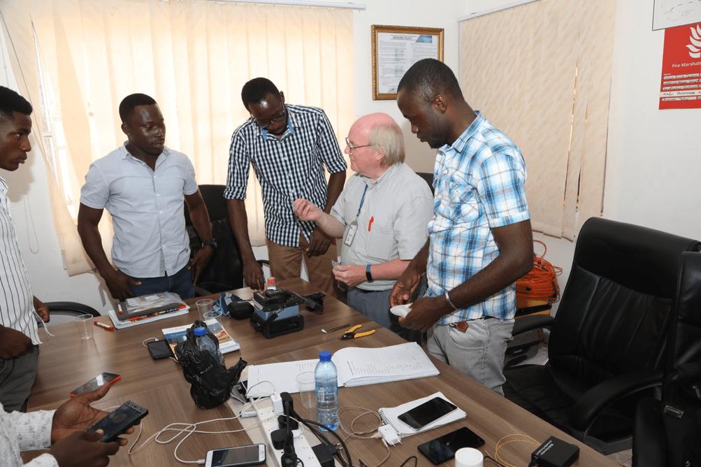 fiber optics training in Ghana by Nordic Alliance