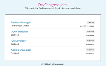 Looking For A Developer? Check Out The DevCongress Jobs Board