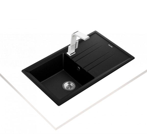 мивка обръщаема за шкаф 50 см STONE 50 B TG ЧЕРНА 1