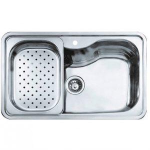 мивка за вграждане гладка за шкаф със светъл отвор 80 см BIG BOWL 80 1С BAHIA