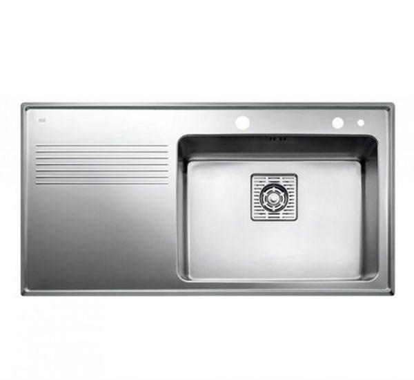 мивка за вграждане гладка ляв отцедник авт. клапан за шкаф със светъл отвор 60 см FRAME 1C 1E PLUS ЛЯВА