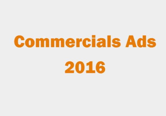 Commercials Ads 2016