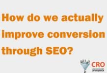 How do we actually improve conversion through SEO?