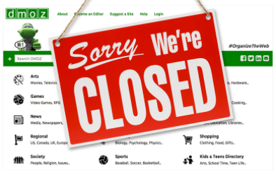 DMOZ Closed