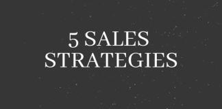 5 sales strategies