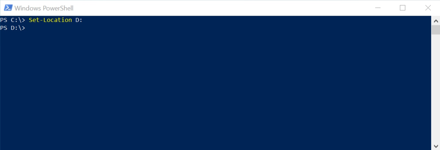 How to Change PowerShell Directory From C to D