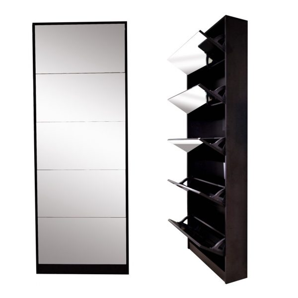 mirror shoe cabinet living room shoe rack with 5 drawers tech nuggets