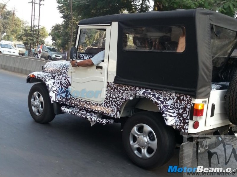 Spy Pics: Mahindra Thar with new engine and cosmetic tweaks spied