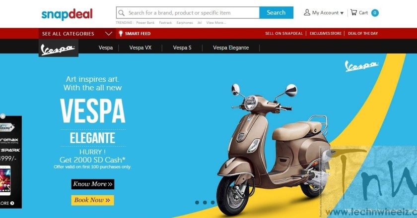 Piaggio Vespa launches its first online store on Snapdeal
