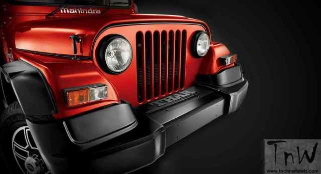 2015 Mahindra Thar facelift gets extended plastic fender