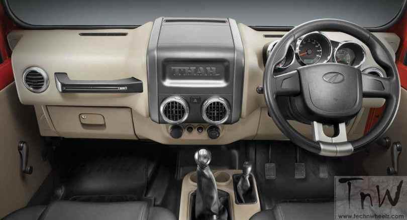 2015 Mahindra Thar facelift dashboard
