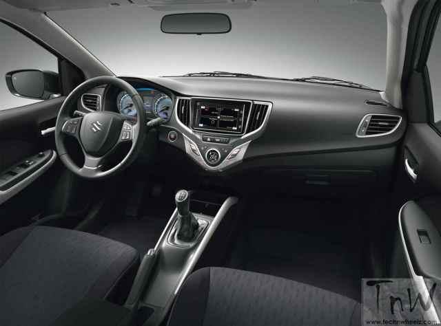 Maruti Suzuki Baleno hatchback interior