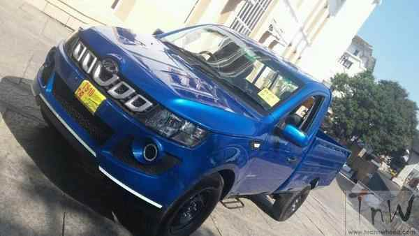 Mahindra Genio facelift (Imperio) spied undisguised. Reveals new front end