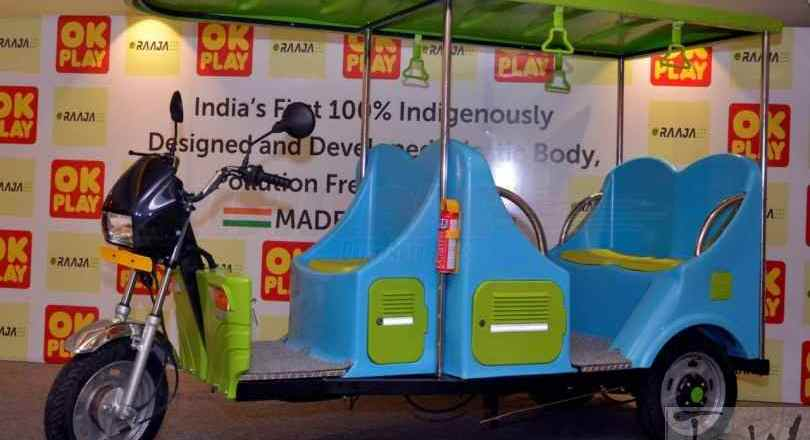 OK Play India launches E-Raaja electric rickshaw