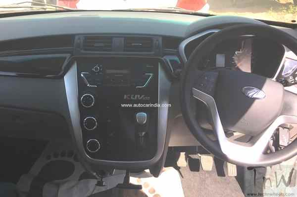 Interiors of Mahindra KUV100 spied. Six seat configuration detailed