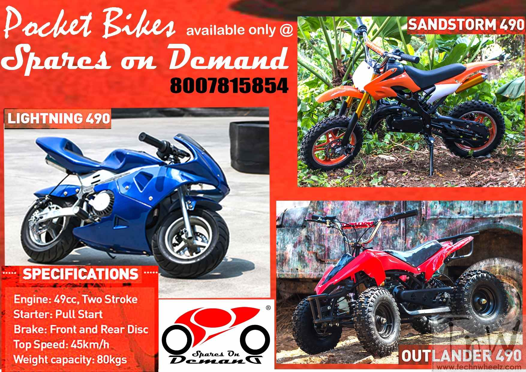 Headrush Pocket bikes now available in Pune – TECH 'N WHEELZ