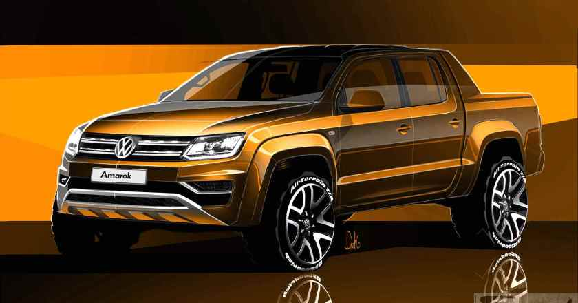 Volkswagen reveals official sketches of the new Amarok