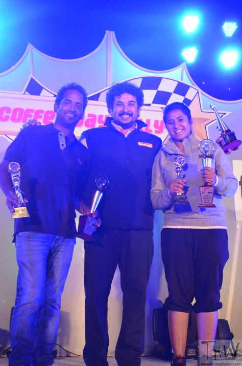 Coffee Day Rally 2013 with Lohit Urs Stage Ceremony