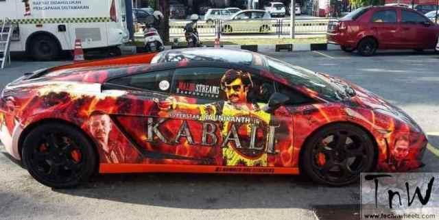 Lamborghini Gallardo  Kabali wrap at Malaysia
