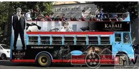 Kabali wrap on bus