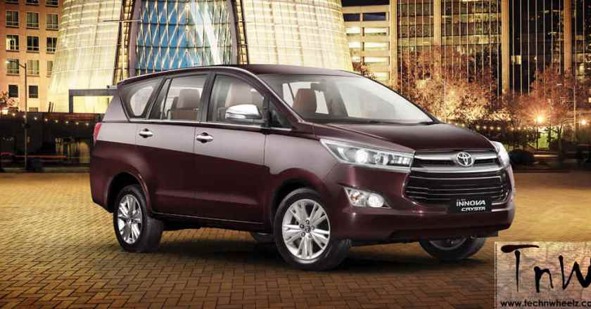 Bookings open for Innova Crysta petrol. Deliveries from August