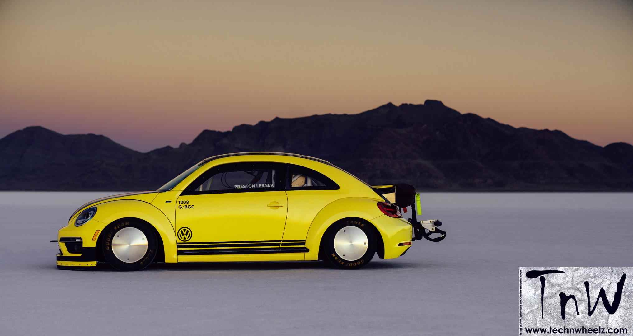 that beetle lsr record utah do event a speed world at lake technwheelz hits volkswagen posts in featured sets of new bonneville can