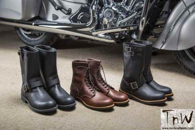 Boots added to the range for the first time and these have been made in conjunction with Red Wing Shoes