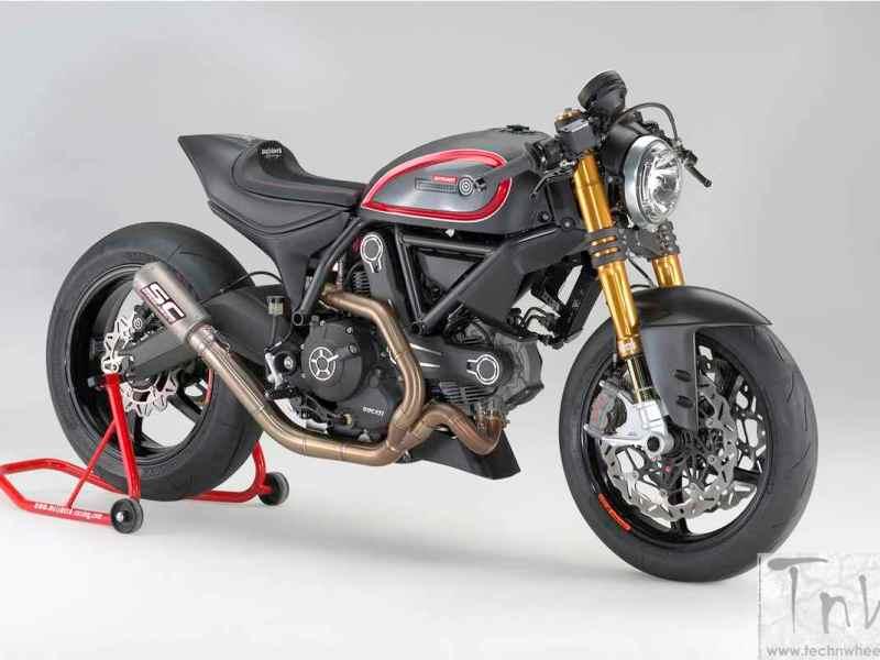 INTERMOT 2016: Marcus Walz's roadster based on a Ducati scrambler