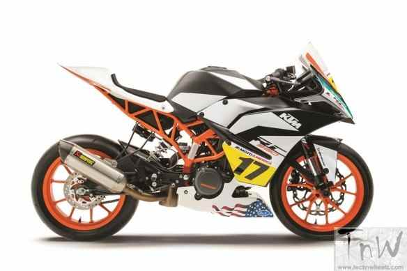 2017 KTM RC CUP Racebike revealed. Details inside