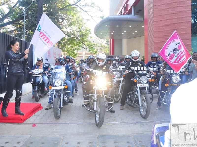 Fortis La Femme Motarde- women's bike rally in support of Breast Cancer Awareness organized