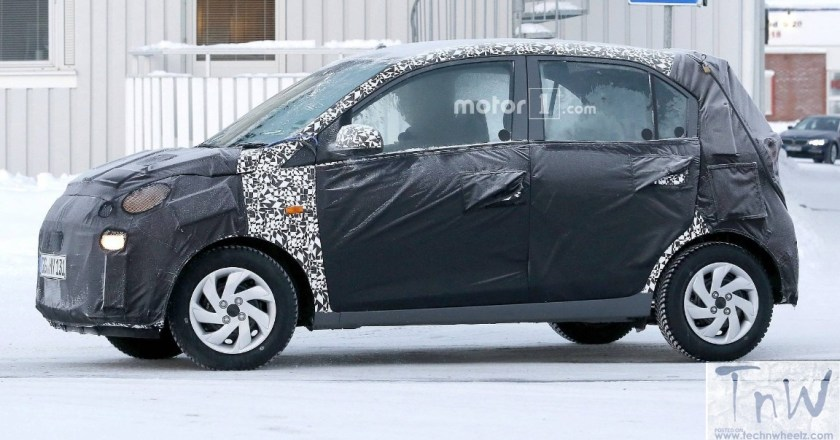 2018 Hyundai Santro spied. Features Kona design language