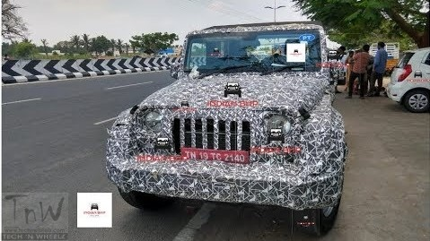 2020 Mahindra Thar spied. Exterior details and cabin design revealed