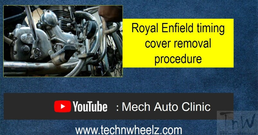 Royal Enfield timing cover removal procedure for STD and AVL engine