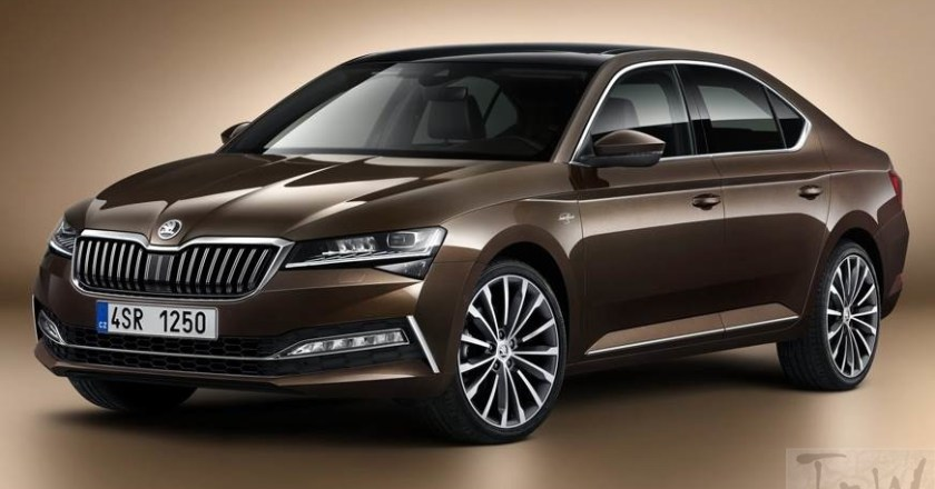 2020 Skoda Superb . Petrol-only model available in two trims
