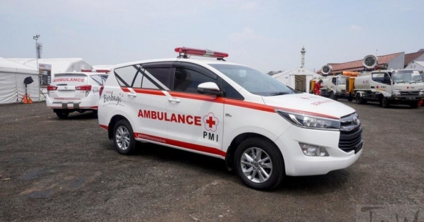 Toyota Innova Crysta Ambulance donated to Indonesian Red Cross
