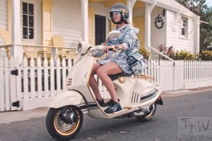 Fashion brand Dior gives Vespa scooter a makeover