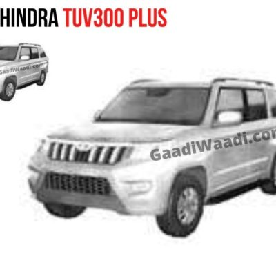 Mahindra TUV300 BS6 with cosmetic changes. Leaked images