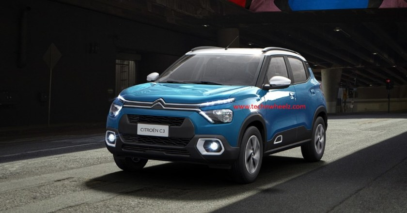 India bound Citroen C3 compact SUV unveiled globally.  India launch in 2022